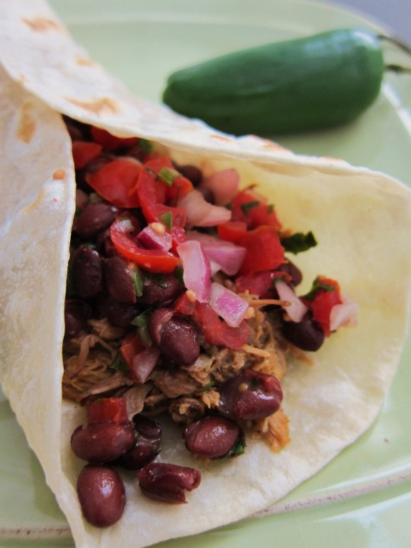 Slow Cooker Pork Tacos from Eat, Drink, Smile