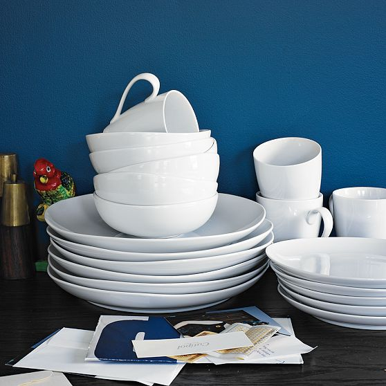 Organic shaped dinnerware from West Elm & The Hunt for New Dinnerware u2013 Eat. Drink. Smile.