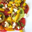 heirloom tomato salad w peaches