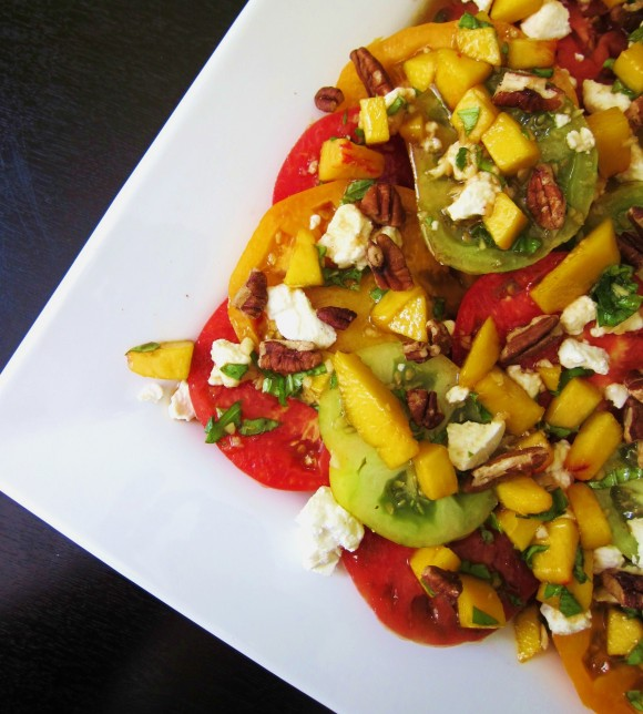 heirloom tomato salad w peaches3
