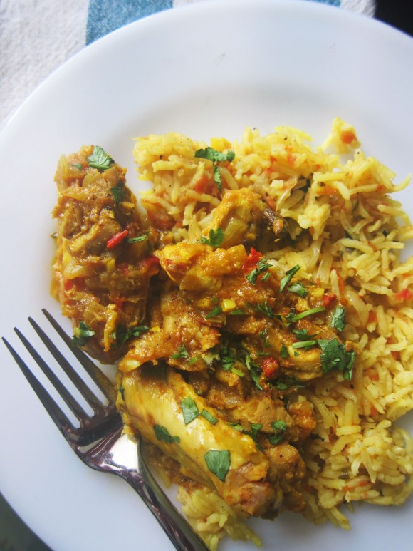 Indian spiced chicken and tomato rice eat drink smile indian spiced chicken and tomato rice print recipe forumfinder Choice Image
