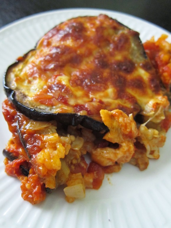 Meatless Monday: Eggplant, Mozzarella and Saffron Rice ...