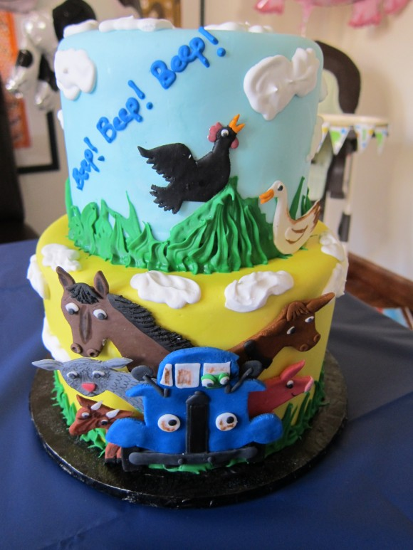 Little Blue Truck Cake by Crumb de la Crumb