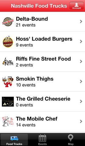 nashville food truck iphone app