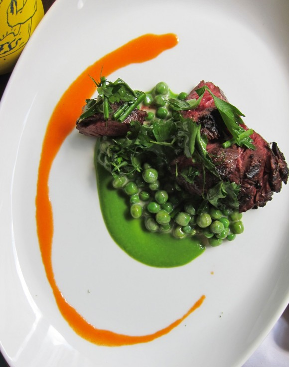 Empire-State-South-Hangar-Steak-w-English-Peas