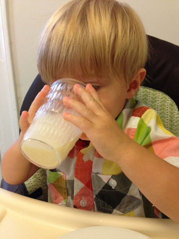 Archer drinking milk